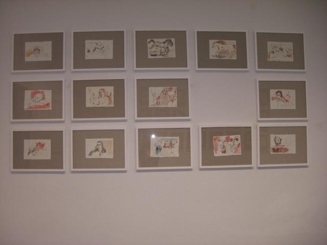 Hängung der Zeichnungen von Susanne Haun  2006