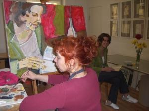 Susanne Haun malt Claudia Jahnke