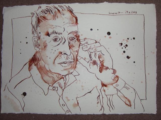 Der alte Mann - Zeichnung von Susanne Haun