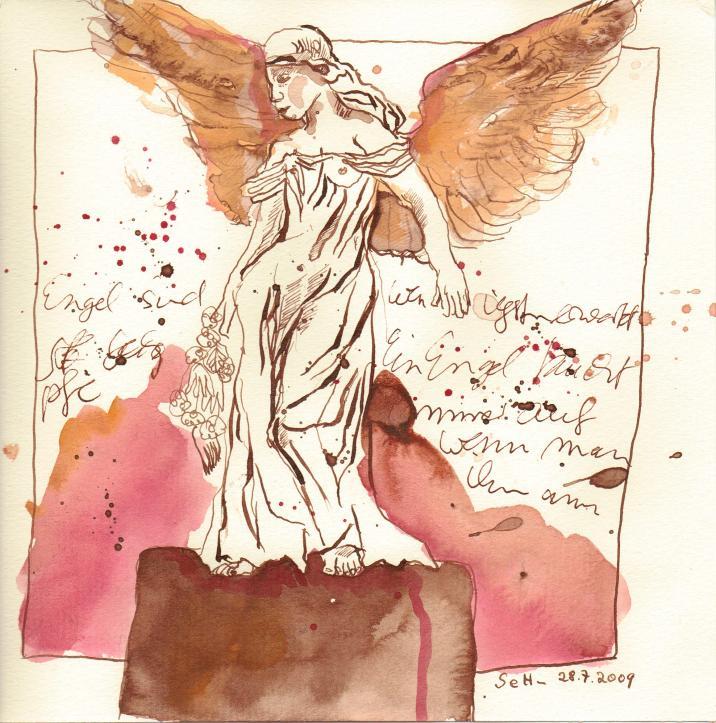 Engel - Zeichnung von Susanne Haun