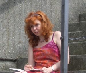 Susanne Haun zeichnet in Hamburg