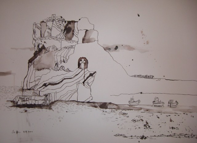 Trauminsel - Zeichnung von Susanne Haun