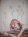 Selbst hell - 80 x 60 cm - Tusche und Aquarell auf Silberburg Bütten