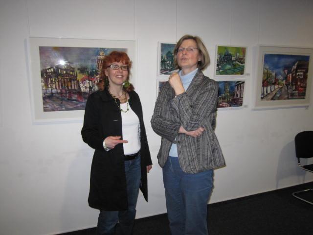 Ich mit Frau Kittel - Leiterin der Graphothek - Foto von Gina