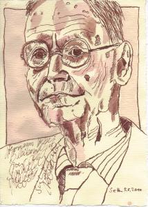 Hesse oder das Sinnbild - Zeichnung von Susanne Haun - 20 x 15 cm - Tusche auf Bütten