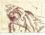Benno Führmann als Tony Kurz - Zeichnung von Susanne Haun - 15 x 20 cm - Tusche auf Bütten