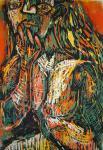 Der Lippenstift - Holzschnitt von Susanne Haun, 2003 - 60 x 40 cm, Auflage 20