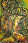 Lippenstift - Holzschnitt von Susanne Haun, 2003 - 60 x 40 cm