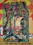 Lippenstift - Holzschnitt von Susanne Haun, 2003 - 60 x 40 cm auf Poster