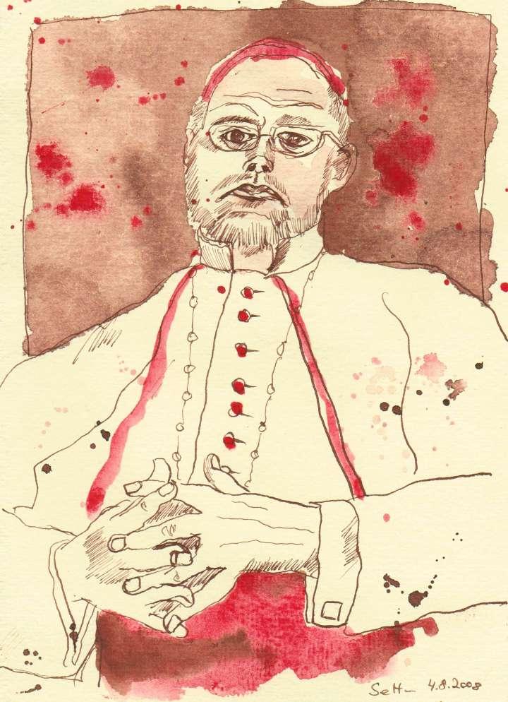 Kirche - Zeichnung von Susanne Haun - 20 x 15 cm - Tusche auf Bütten