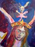 Ausschnitt Athene - Gemälde von Susanne Haun