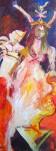 Athena - Gemälde von Susanne Haun - Acryl und Ölkreide auf Leinwand - 250 x 70 cm - Sammlung Gösmann