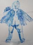Amor - Zeichnung von Susanne Haun - 30 x 20 cm - Aquarell und Buntstift auf Bütten
