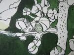 Ausschnitt Hortensie - Zeichnung von Susanne Haun - 36 x 48 cm - Tusche auf Bütten
