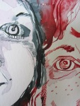 Ausschnit Madeleine und ich - Zeichnung von Susanne Haun - 30 x 40 cm - Tusche auf Bütten