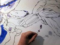 Entstehung einzelne Lavendelblüte mit Größenvergleich von Susanne Haun