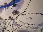 Entstehung einzelne Lavendelblüte Ausschnitt 1 mit Größenvergleich von Susanne Haun
