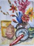 Stillleben - Zeichnung von Susanne Haun - 36 x 48 cm - Aquarell und Tusche auf Bütten