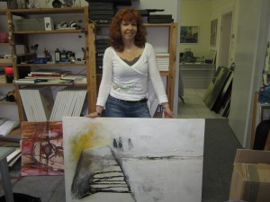 Ich mit dem Gemälde Gerda sucht Kai von Conny Niehoff - Foto von Martina Mattern