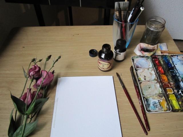 Vorbereitungen zum Malen - Foto von Susanne Haun