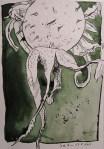 Hagebutte - Zeichnung von Susanne Haun - 22 x 17 cm - Tusche auf Bütten