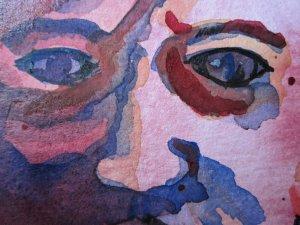 Ausschnitt Aquarellkopf von Susanne Haun