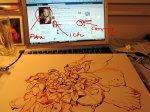 Zeichnen und im Facebook schauen!