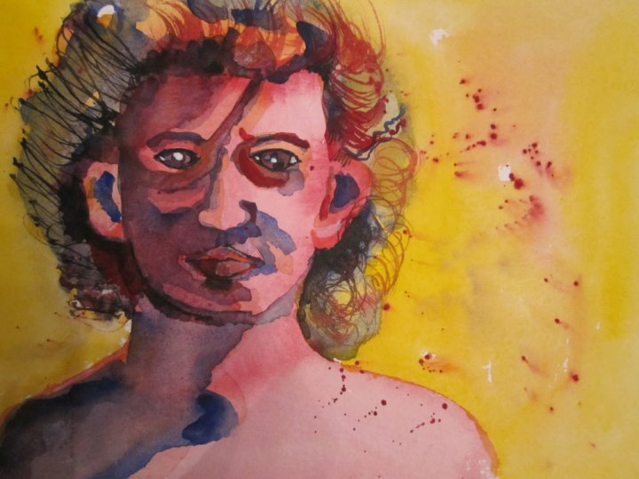 Kopf - Aquarell von Susanne Haun - 24 x 32 cm
