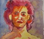 Kopf - Aquarell von Susanne Haun - 17 x 20 cm