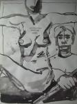 Ophelia: Als Wächter meiner Brust; doch, lieber Bruder, … - Zeichnung von Susanne Haun - 70 x 50 cm