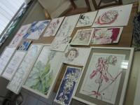 Auswahl meiner Zeichnungen für die Turmgalerie Imst Österreich - Foto von Susanne Haun