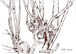 Baumzweige - Zeichnung von Susanne Haun - 17 x 22 cm - Tusche auf Bütten