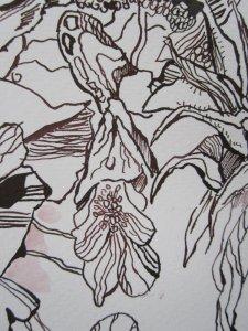 Ausschnitt Zeichnung Ophelia von Susanne Haun