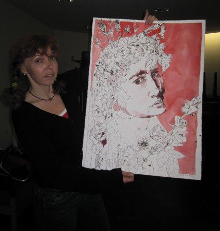 Endlich habe ich meine Ophelia fertig gezeichnet - Foto von Itha Bonitz