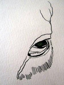 Entstehung Hirsch auf Zeichnung von Susanne Haun 1000 x 40 cm