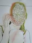 Wieder sind mir die Hände wichtig - Ausschnitt Zeichnung von Susanne Haun