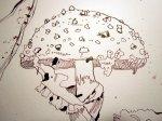 Ausschnitt aus der Zeichnung Fliegenpilz von Susanne Haun