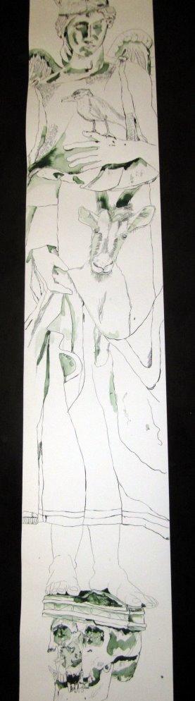 Die Lücke ist geschlossen aber noch nicht ausgearbeitet - es wartet morgen noch Arbeit auf mich - Zeichnung von Susanne Haun