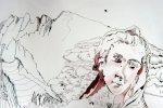 Entstehung Bergengel - Zeichnung von Susanne Haun