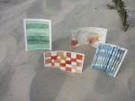 Alexandra Komoll entschied sich, gesehene Farben auf den Postkarten festzuhalten - Foto von Alexandra Komoll