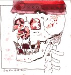 Hamlet - Zeichnung von Susanne Haun - 20 x 20 cm - Tusche auf Bütten