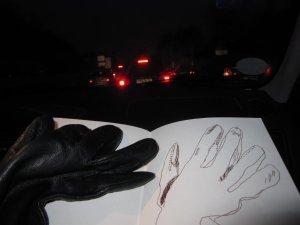 Ich mag die Atmosphäre von Handschuh und Rücklichtern - Foto von Susanne Haun