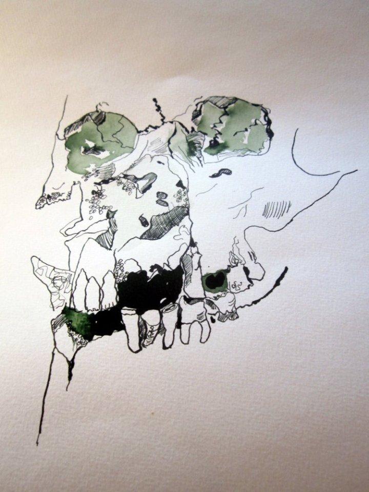 Dunkelheiten für die Tiefen sind wichtig - Zeichnung von Susanne Haun