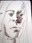 Skizze Gesicht von Susanne Haun