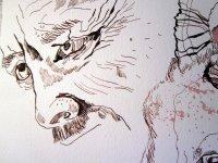 """Der Mann - Ausschnitt Zeichnung """"Athena"""" von Susanne Haun"""