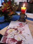 Etwas Farbe im Motiv - Entstehung Blumen von Susanne Haun