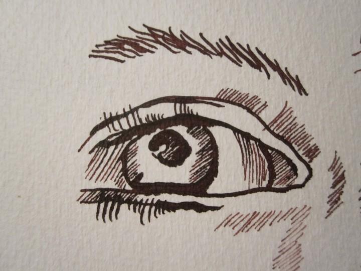 ... dem Menschenauge gegenüber gestellt - Zeichnung von Susanne Haun