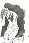 Persephone - Zeichnung von Susanne Haun - 22 x 17 cm - Tusche auf Bütten
