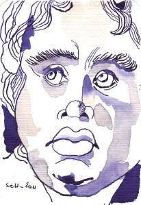 Skulptur Version 2 - Zeichnung von Susanne Haun - 15 x 10 cm auf Hahnemühle Postkartenaquarell