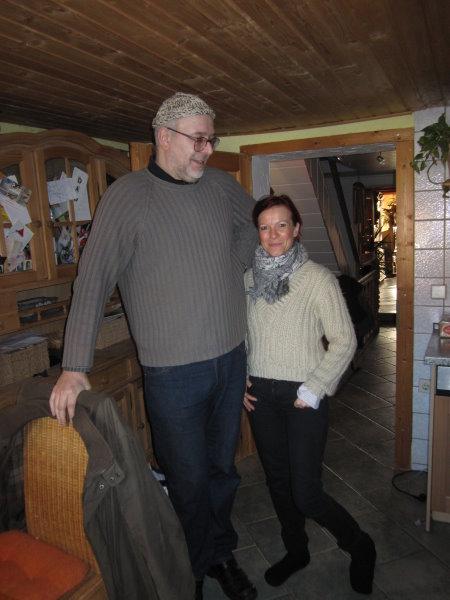 Daniel Büchner und Conny Niehoff - der Größenunterschied ist enorm - Foto von Susanne Haun
